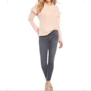 J Simpson Light Pink Sweatshirt w/ Ruffles  S- L